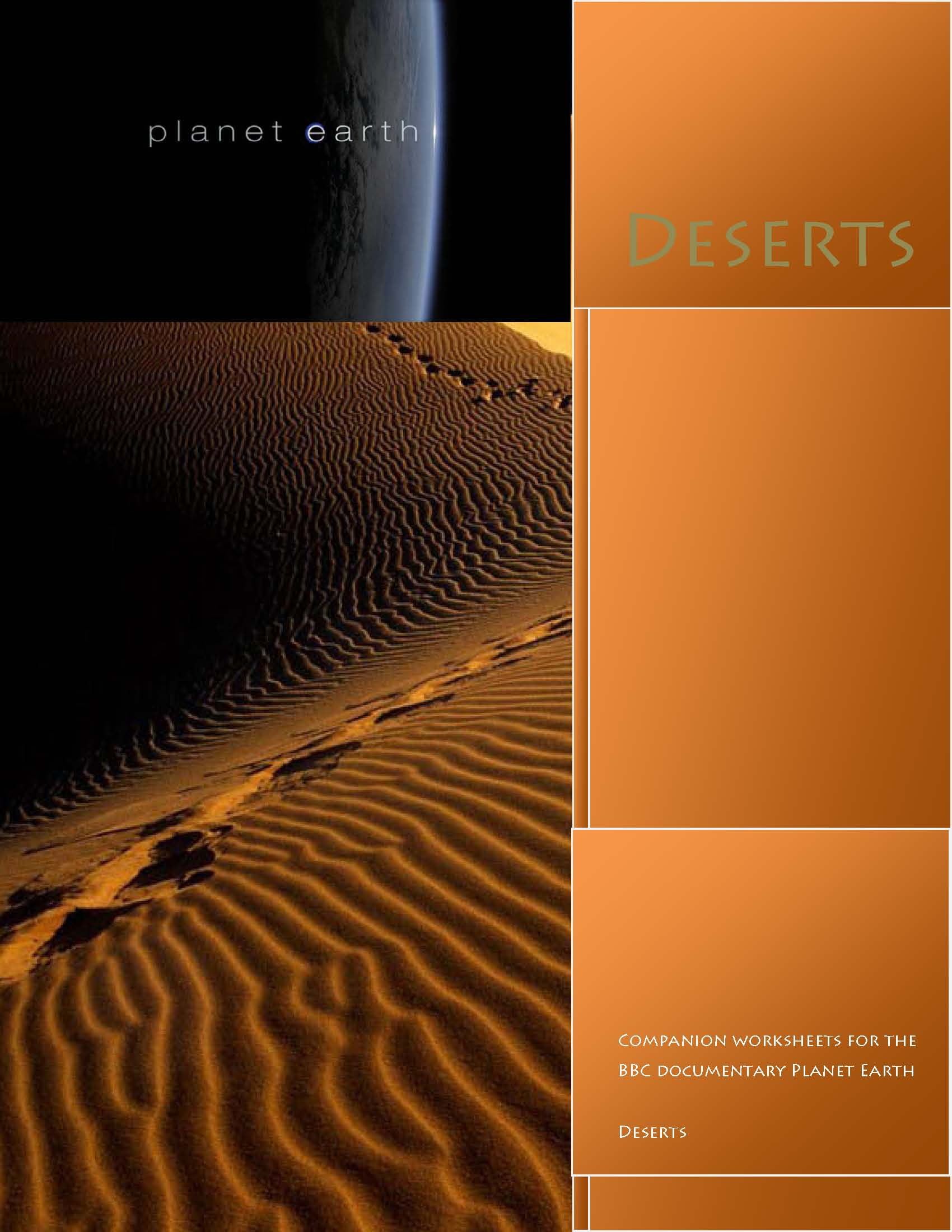 Worksheets Planet Earth Worksheets bbc planet earth deserts worksheets schoolwithdad jungles worksheets